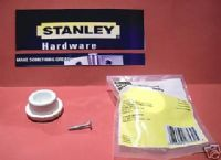 STANLEY door stop. WHITE RUBBER. 1 pack with Screw Self adesive 57-7100